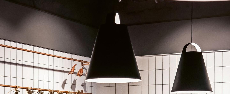 Suspension above noir o55cm h66cm louis poulsen normal