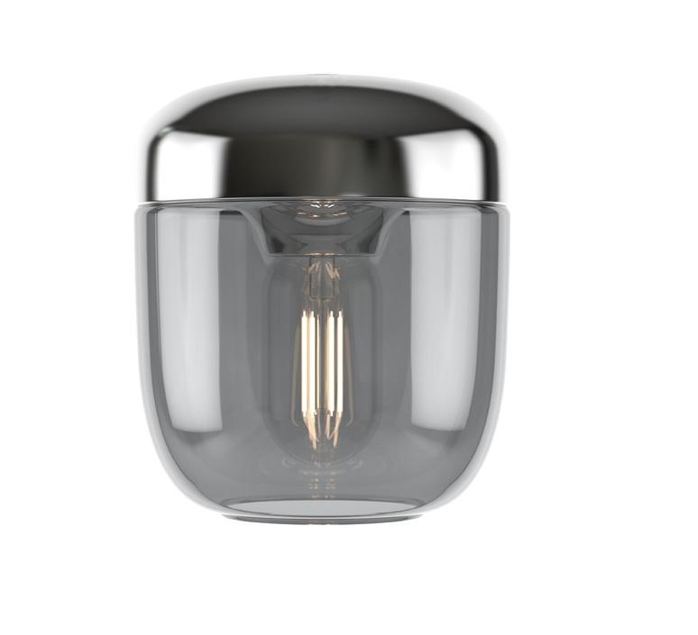 Pendant Light, Acorn, Smoked Steel, Ø14cm, H16cm
