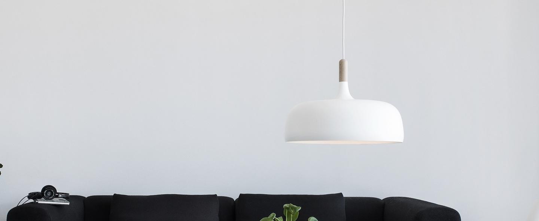 Suspension acorn blanc o48cm northern lighting normal