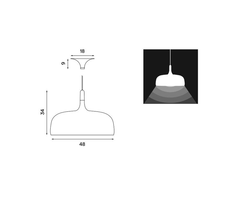 Acorn atle tveit northern lighting acorn white luminaire lighting design signed 18597 product