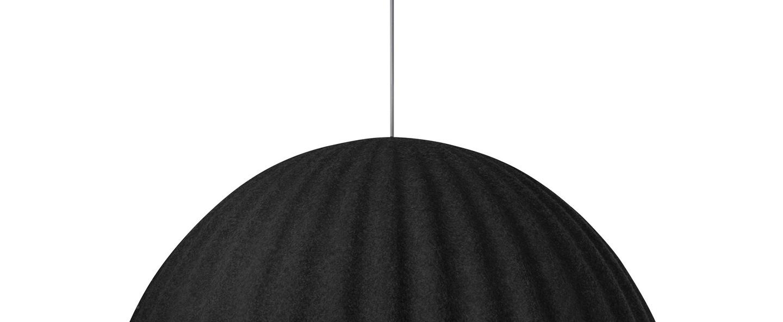 Suspension acoustique under the bell noir o55cm h31cm muuto normal