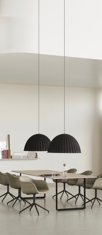 Suspension acoustique under the bell noir o55cm h31cm muuto normal