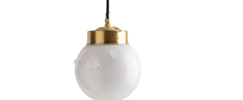 Suspension adore l or glass 006 blanc o20cm h23cm zangra normal