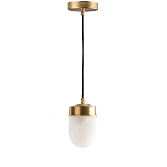 Suspension adore l or glass 007 blanc 0o9 5cm h11cm zangra normal