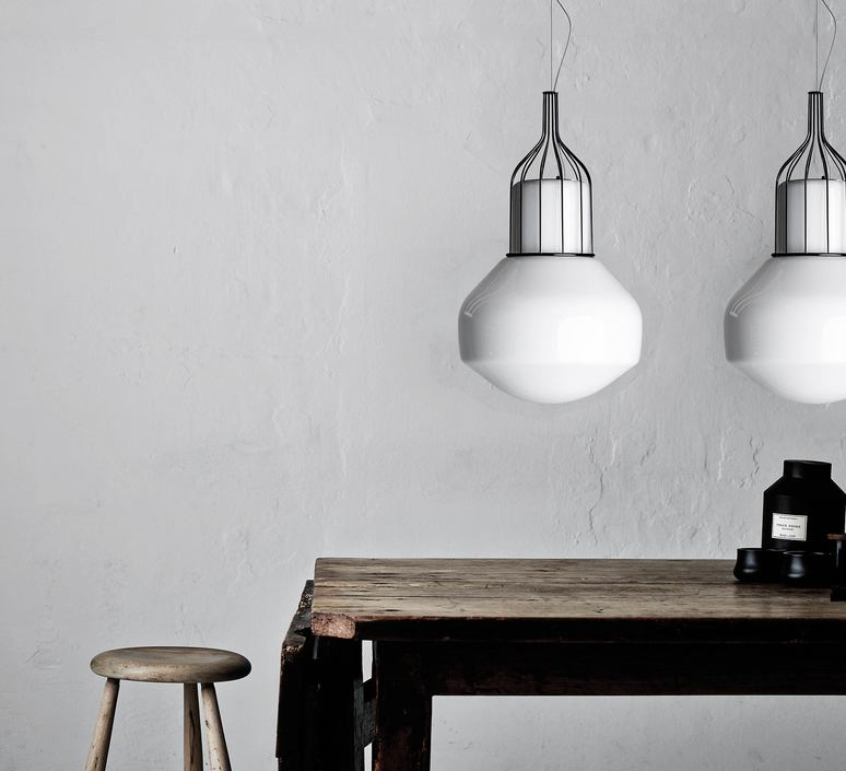 Aerostat f27 metal base guillaume delvigne suspension pendant light  fabbian f27a13 24  design signed 56649 product