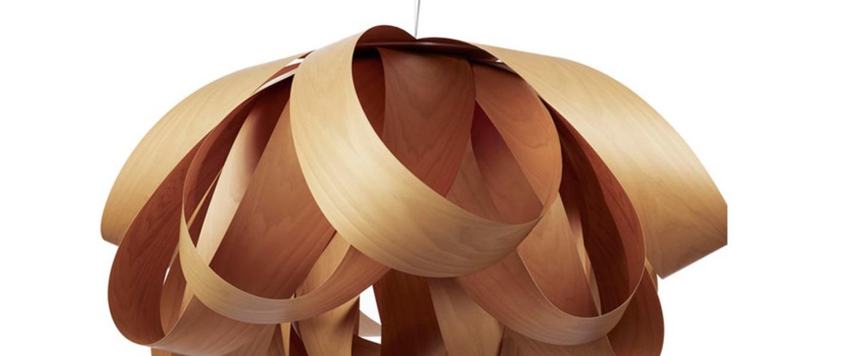 Suspension agatha bois de cerisier o140cm lzf normal