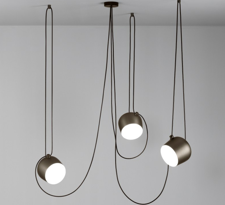 pendant light aim brown 24 3cm flos nedgis lighting. Black Bedroom Furniture Sets. Home Design Ideas
