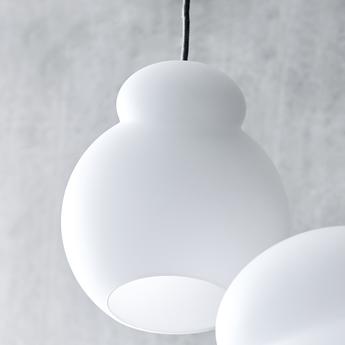 Suspension air blanc opalin o22cm h25 5cm frandsen normal