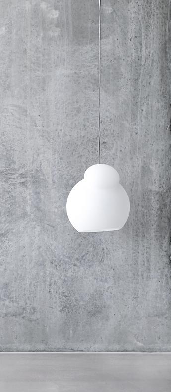 Suspension air blanc opalin o28cm h32 5cm frandsen normal