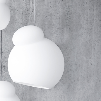 Suspension air blanc opalin o34cm h39cm frandsen normal