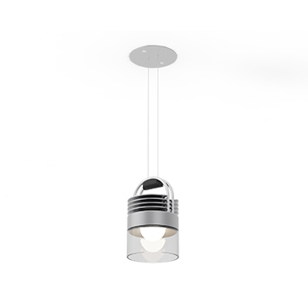 Suspension airmod recessed argent et transparent clair led 2700k 900lm o10cm h16cm sammode normal