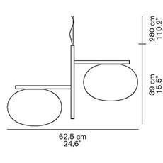 Alba 468 mariana pellegrino suspension pendant light  oluce alba468  design signed 40559 thumb