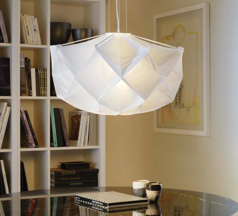 suspension albedo blanc 70cm fontana arte luminaires nedgis. Black Bedroom Furniture Sets. Home Design Ideas