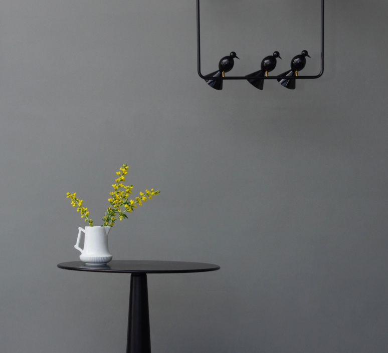 Alouette ceiling three birds gwendolyn et guillane kerschbaumer suspension pendant light  atelier areti  alouette ceiling 3 birds brass black  design signed 78422 product