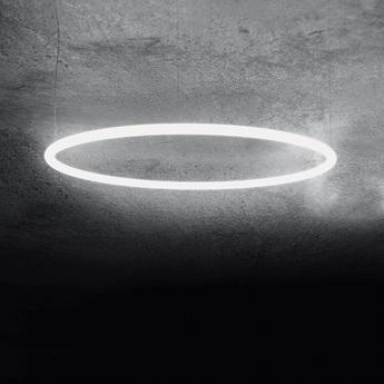 Suspension alphabet of light circular blanc led o155cm h5cm artemide normal