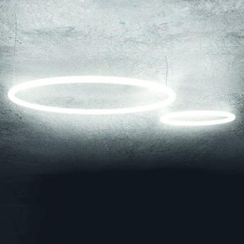Suspension alphabet of light circular blanc led o90cm 3000k 6041lm h5cm artemide normal