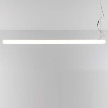 Suspension alphabet of light linear blanc led l120cm h10cm artemide normal