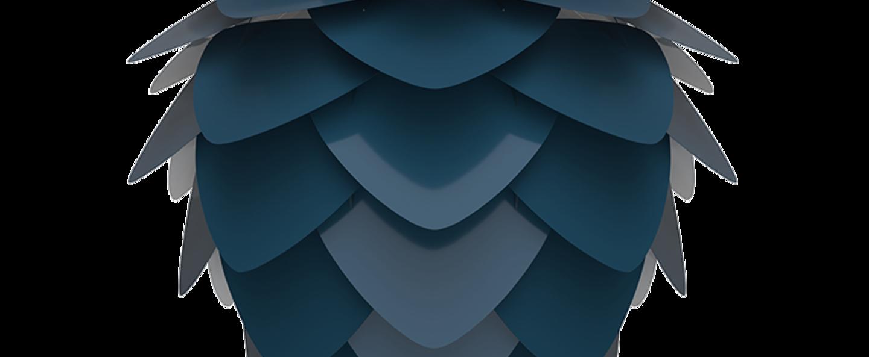 Suspension aluvia mini bleu o40cm h30cm umage normal