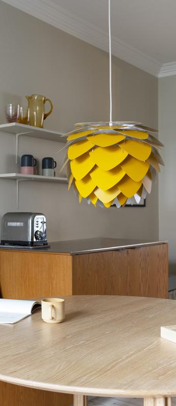 Suspension aluvia mini jaune o40cm h30cm umage normal