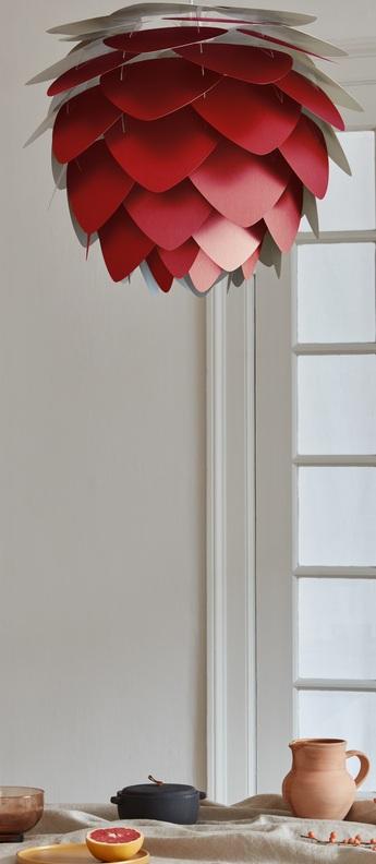 Suspension aluvia mini rouge o40cm h30cm umage normal