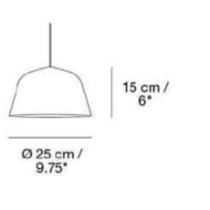 Ambit 25 taf architects suspension pendant light  muuto 15282  design signed 36156 thumb