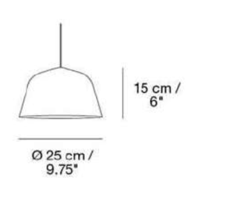 Ambit 25 taf architects suspension pendant light  muuto 15285  design signed 36161 product