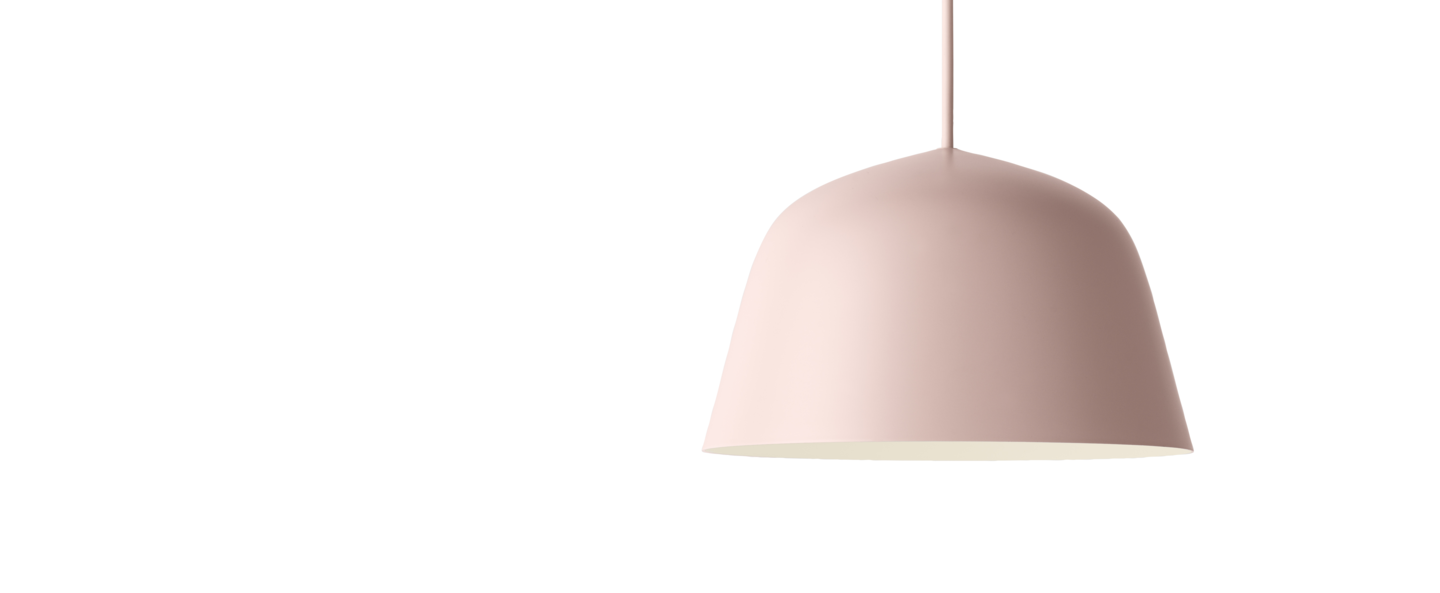 Suspension ambit 25 rose o25cm h15cm muuto normal