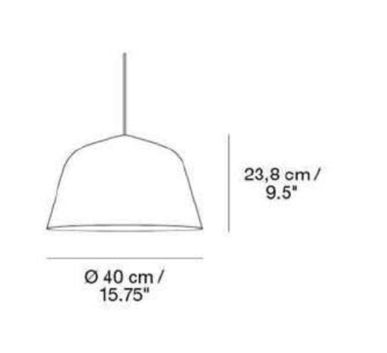 Ambit 40 taf architects suspension pendant light  muuto 15275  design signed 36158 product