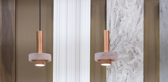 Suspension ambra rose l13cm h28cm david pompa normal
