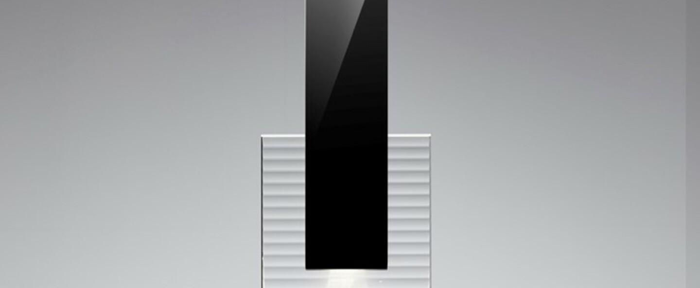 Suspension amulette transparent noir led 3000k l17cm h44cm fabbian normal