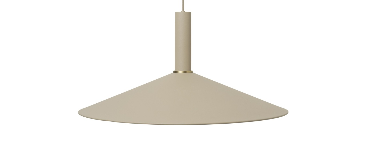 Suspension angle shade pendant high cashmere o58cm h10 5cm ferm living normal