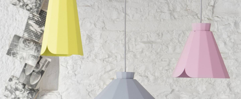 Suspension ankara jaune h30 5cm matiere grise normal
