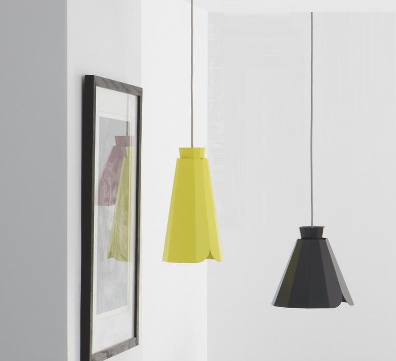 suspension ankara jaune h30 5cm matiere grise luminaires nedgis. Black Bedroom Furniture Sets. Home Design Ideas
