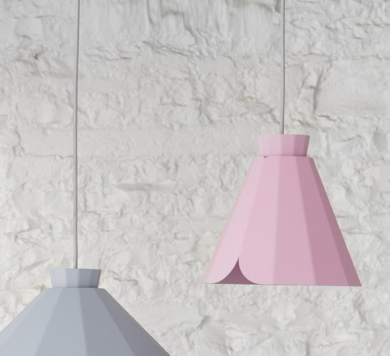 Ankara constance guisset matiere grise ankara medium rose clair luminaire lighting design signed 18166 product