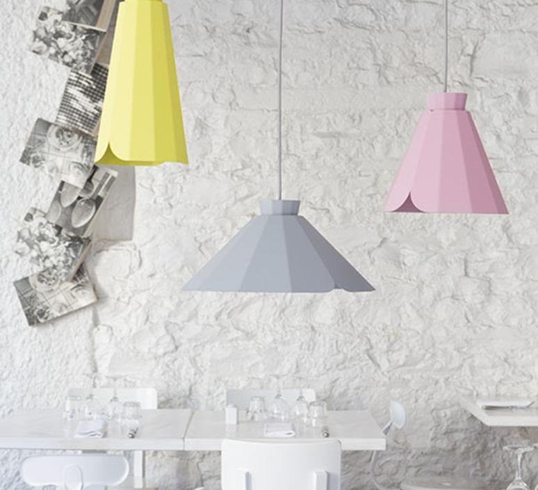 Ankara constance guisset matiere grise ankara medium rose clair luminaire lighting design signed 18168 product