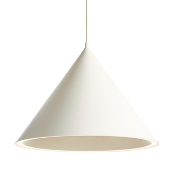 Suspension annular pendant large blanc led l46 8cm h32 4cm woud normal