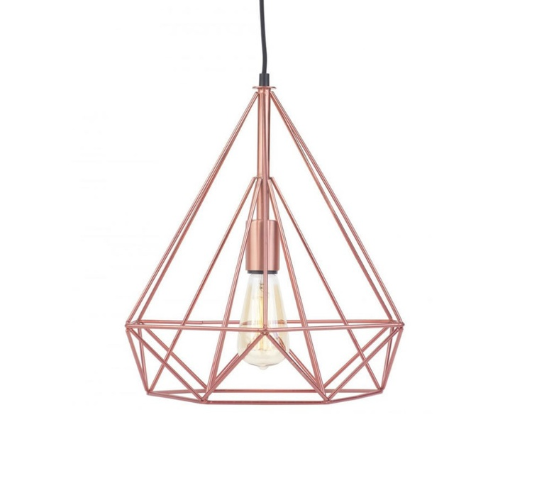 Suspension antwerp cuivre 38cm h40cm it 39 s about for Luminaire suspension cuivre