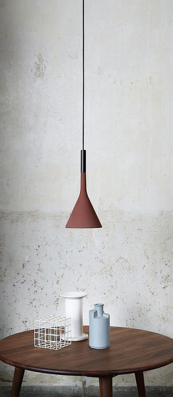 Suspension aplomb gu10 rouge o17cm h36cm foscarini normal