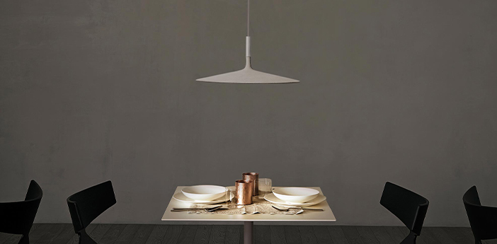 Suspension aplomb large dimmable blanc led 2700k 1279lm o45cm h20cm foscarini normal