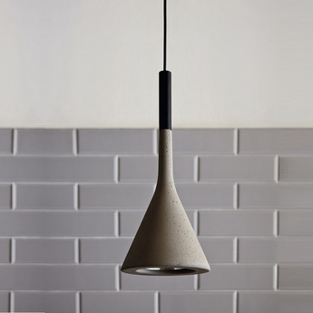 Suspension aplomb mini gris o11 5cm h20cm foscarini normal