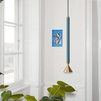 Suspension apollo 59 bleu o13cm h72cm pholc normal