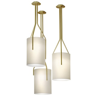 Suspension arborescence l blanc et laiton o40cm h140cm cvl normal