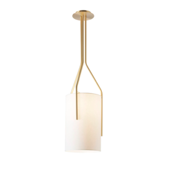 Suspension arborescence xxs blanc et laiton o33cm h100cm cvl normal