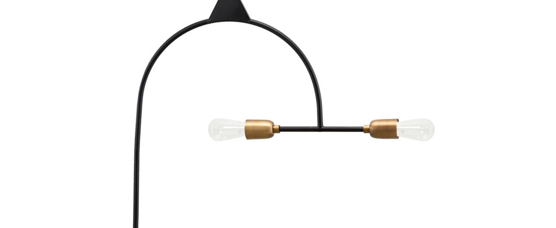 Suspension arch noir et laiton l63cm h66 5cm house doctor normal