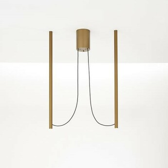 Suspension ari 2 bronze led 3000k l15 5cm h90cm fabbian normal