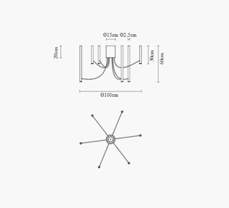 Ari 6 marco spatti marco pietro ricci suspension pendant light  fabbian f55a07 01  design signed nedgis 86135 product