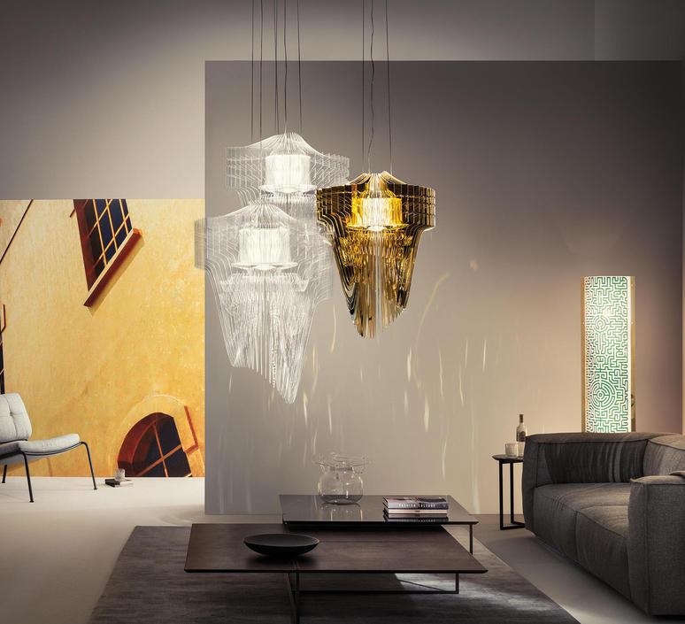 Aria m  suspension pendant light  slamp ari84sos00020 000  design signed 52023 product