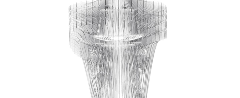 Suspension aria m transparent led o60cm h90cm slamp normal