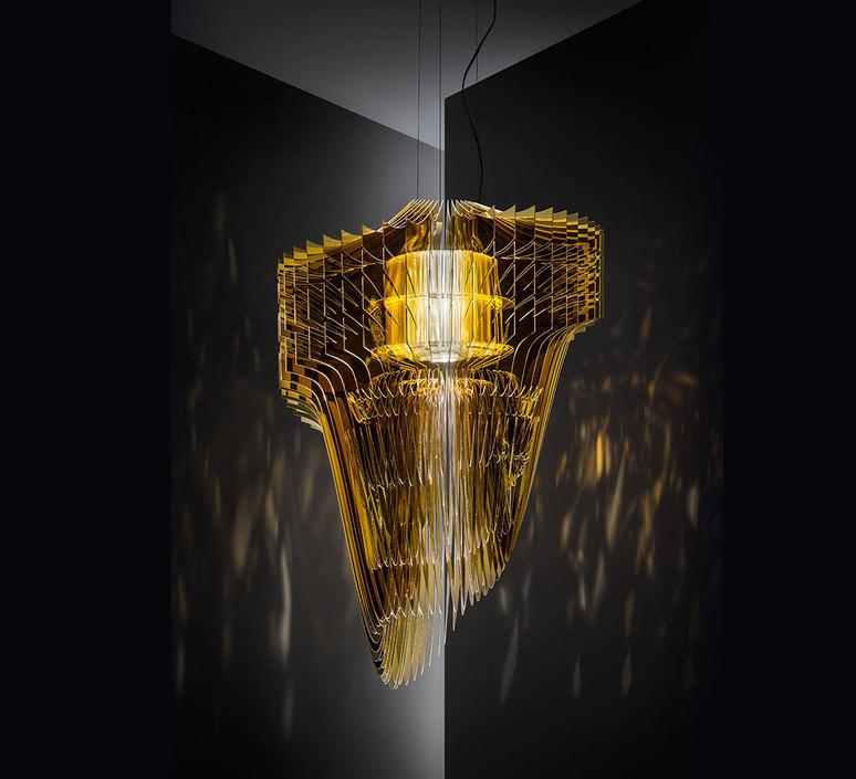 Aria s  suspension pendant light  slamp ari84sos00010 000  design signed 52027 product