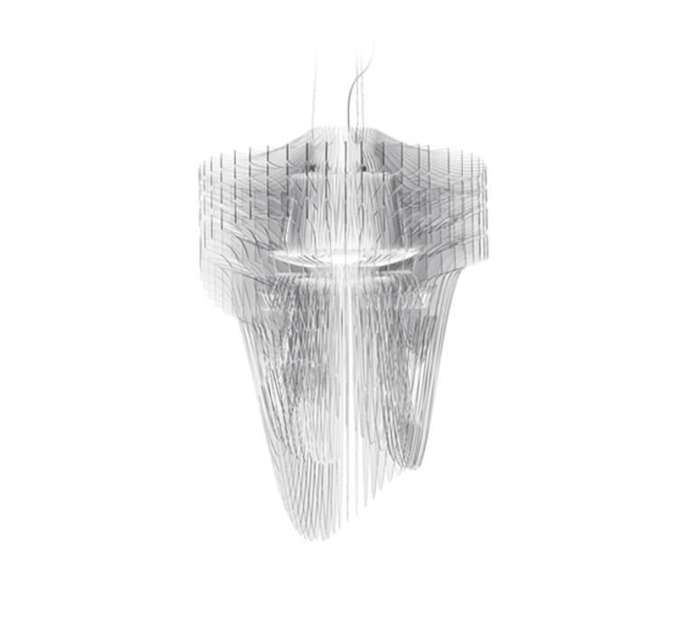 Aria s  suspension pendant light  slamp ari84sos0001t 000  design signed 52043 product